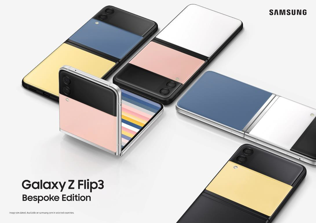 Samsung Galaxy Z Flip 3 Bespoke Edition lets customers mix and match back panels and frame