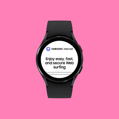 The Samsung Internet Browser is now available on the Galaxy Watch 4