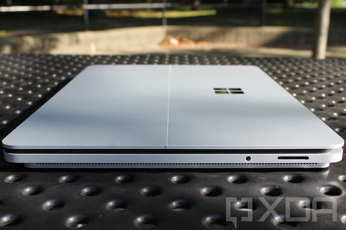 Side view of the Surface Laptop Studio