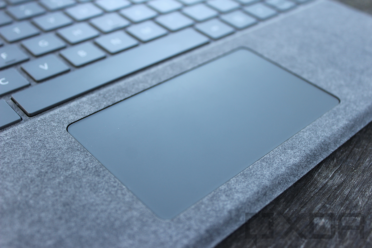 Close up of Surface Pro 8 touchpad