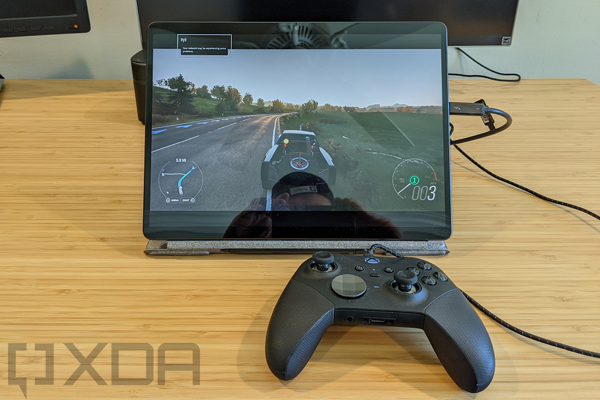 Xbox controller playing Forza