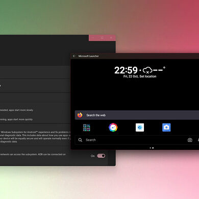 PSA: Trying out Windows Subsystem for Android? Install an Android launcher to make your life easier