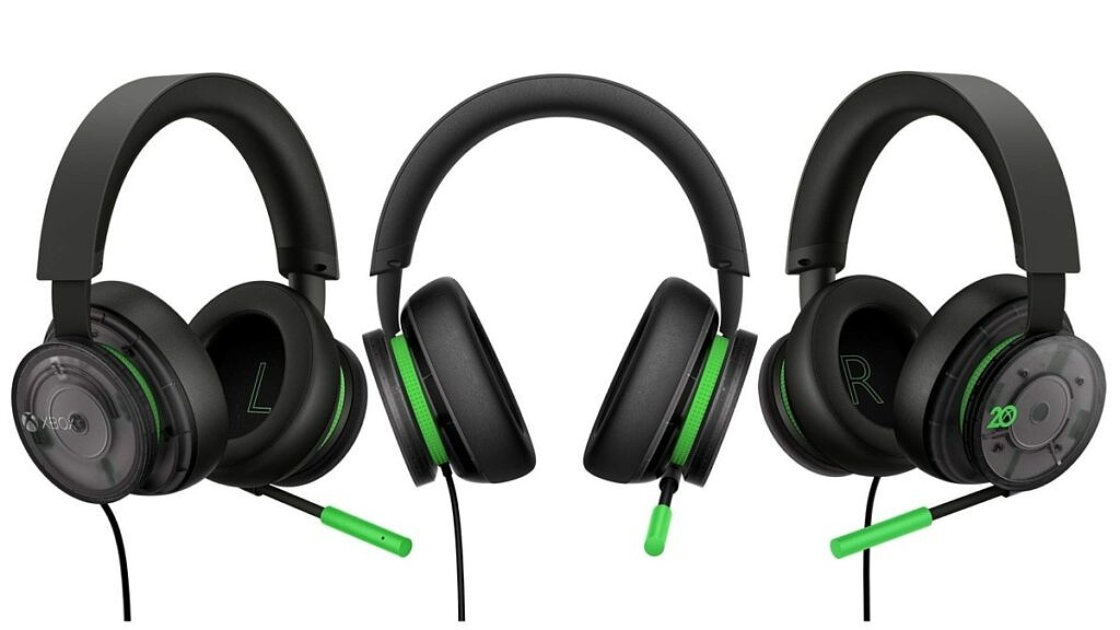Xbox Stereo Headset 20th anniversary edition all angles