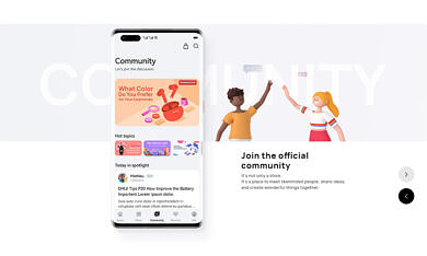 Get Community, Shopping, and Support with My HUAWEI App
