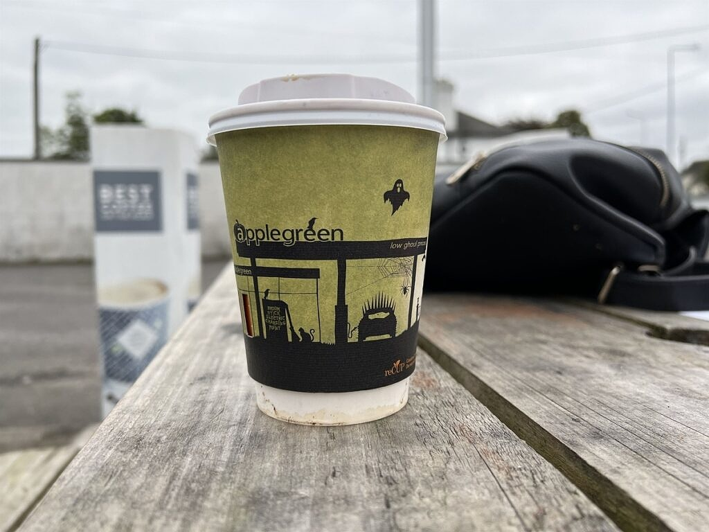 iPhone 13 Pro coffee cup