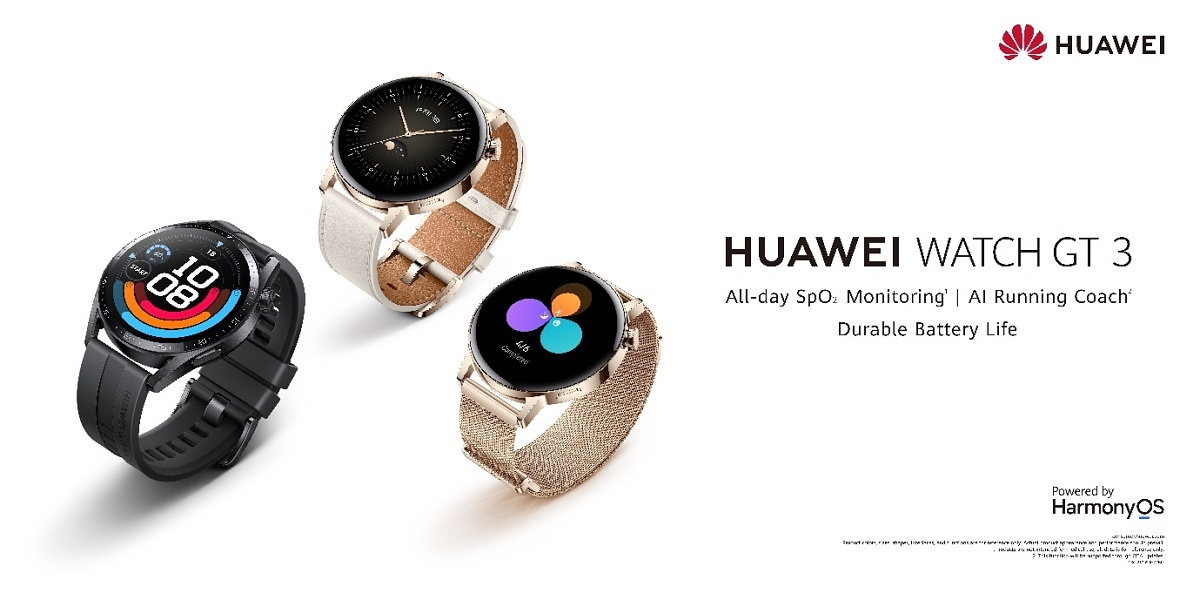 Huawei launches a pair of smartwatches with HarmonyOS 2.1 and up to 14 days of battery life