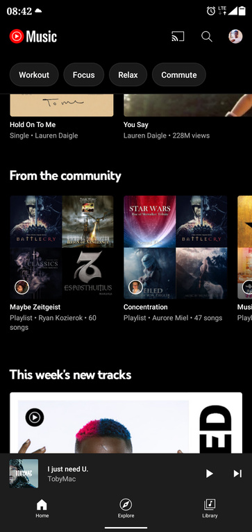 youtube music from the community